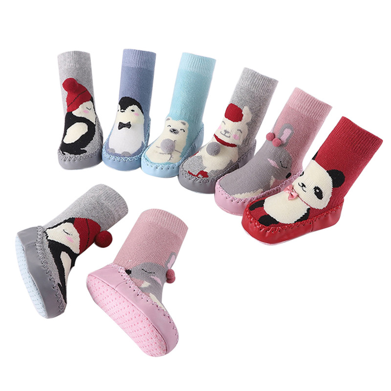 Autumn And Winter Warm Children's Socks Non-slip 0-3 Years Old Baby Shoes Socks Toddler Socks Baby Floor Socks Shoes