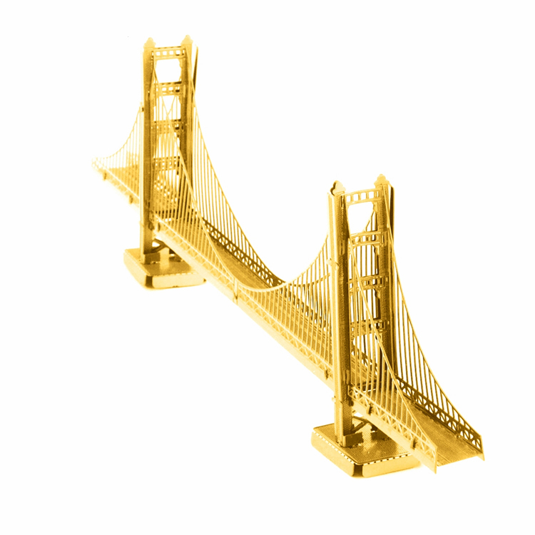 3D metal world DIY assembly model of the United States Golden Gate Bridge creative arts and crafts puzzle gift accessories