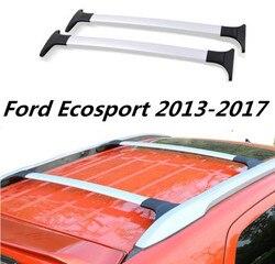 Samochodowy bagażnik dachowy szyny bagaż bagaż poprzeczka dla 13-17 Ford Ecosport 2013 2014 2015 2016 2017 (czarny srebrny)