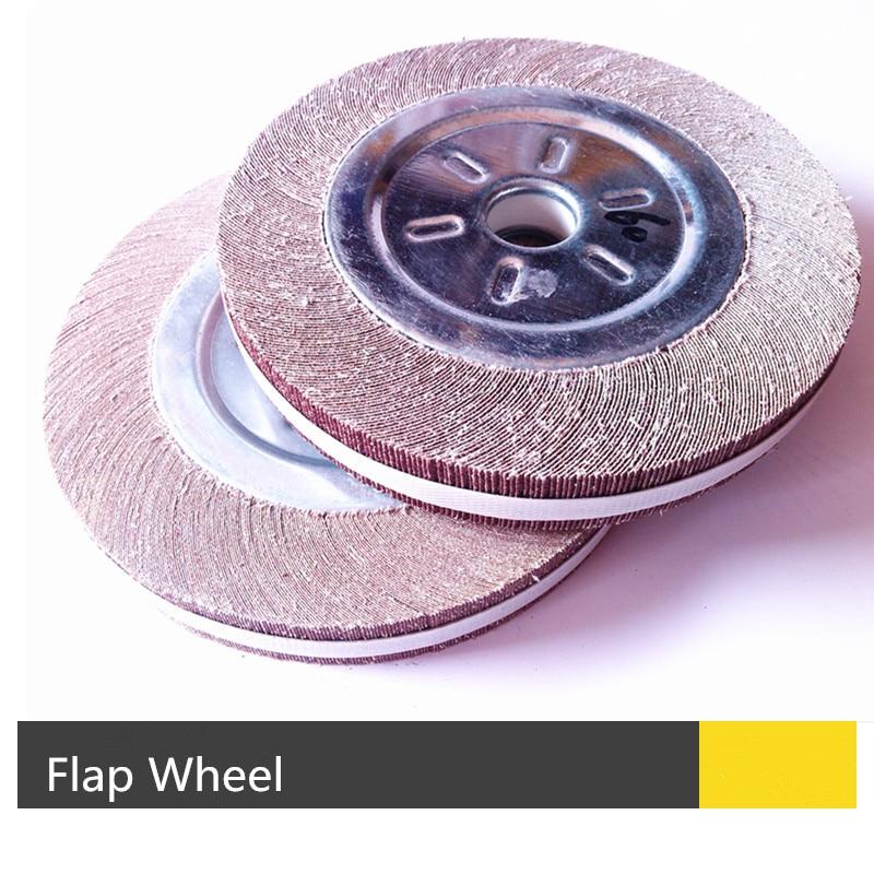 250*30*25mm Flange Abrasive Flap Wheel For Metal Wood Polishing Grinding
