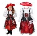 Яхты капитан пиратского капитана костюм для девочек captain harlock хэллоуин косплей костюмы карнавальные костюмы для девочек производительности