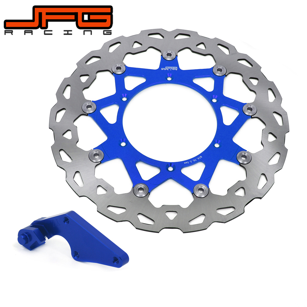 320MM Floating brake disc with bracket For YAMAHA YZF250 YZ250F 2007-2015 YZF450 YZ450F 2008-2015 Motorcycle Pit Bike