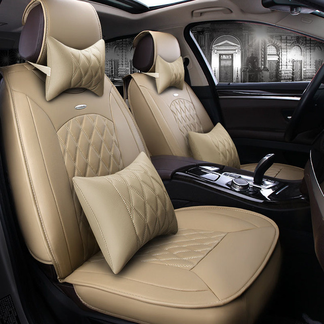 Leather car seat cover for honda crv mazda 6 vw passat geely emgrand ec7 suzuki swift ssangyong car accessories car styling