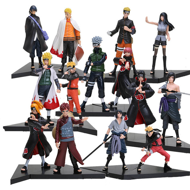 New 2pcs/set PVC japanese anime figures naruto Dolls Uchiha Sasuke + Uchiha itachi game Naruto shippuden Action Figure Toy