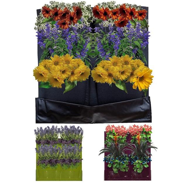 New Waterproof The Top Quality 4 Pocket Vertical Garden Planter Wall Garden  Pots Wall