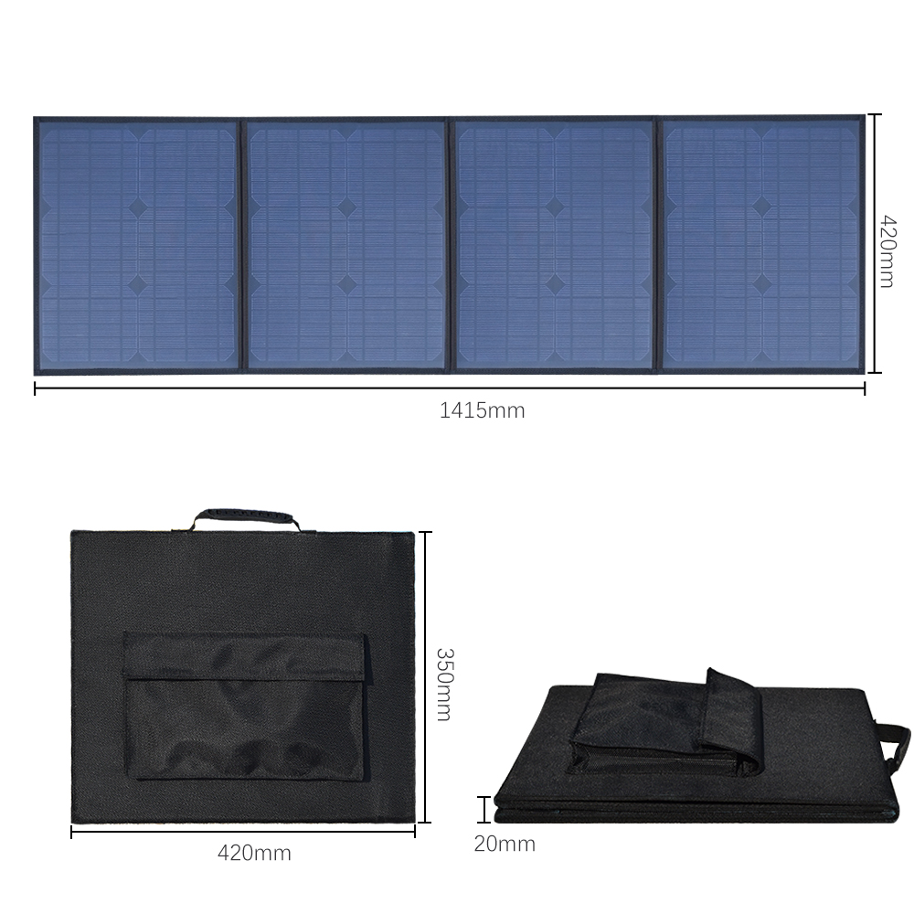 Boguang Portable Solar Panel Charger 80W DC 18V 12v USB 5v Foldable Solar Panel Solar Battery Charger for Laptop Cellphones new solar panel 30000mah diy waterproof power bank 2 usb solar charger case external battery charger accessories