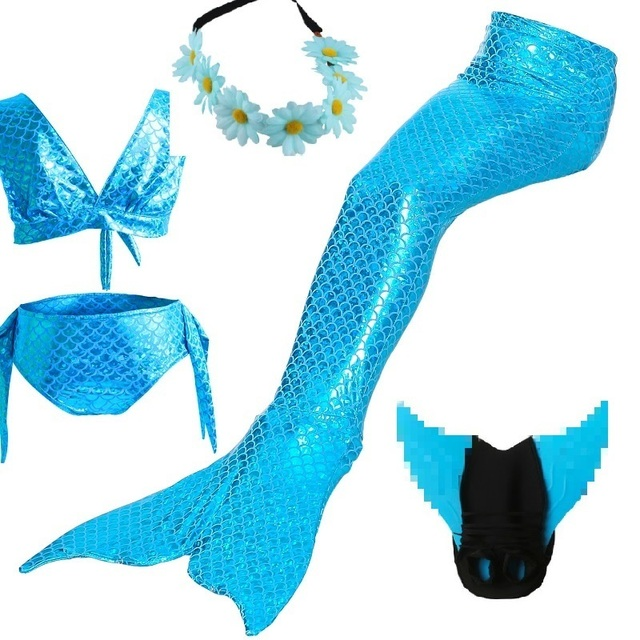 children little mermaid tail costume monofin costumes for girls mermaid tail for swimming with monofin adults kids swimsuit suit