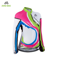 ZERO BIKE High Quality Women S Cycling Clothing Full Zip Long Sleeve Comfortable Breathable Polyester Cycling