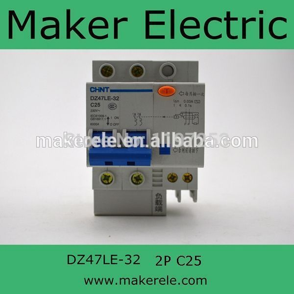 Motor protection circuit breaker dz47le 32 2p c25 us19 for Motor operated circuit breaker