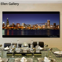 Free Shipping 2014 Hot Sale Canvas Painting Wall Pictures Cuadros Art The City Landscape Home Decor