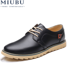 MIUBU Men Casual Leather Shoes Luxury Brand Designer for Comfortable Big Size 37-48 Oxfords Dress Formal Foowear