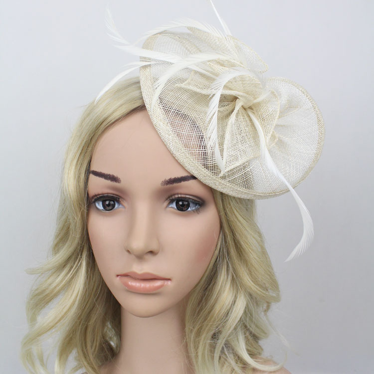 Careful Flash Sale Fascinator Retro Bridal Headdress Hair Accessories Linen Gauze Small Hat Headdress Feathers Wedding Party Headwear Relieving Rheumatism And Cold