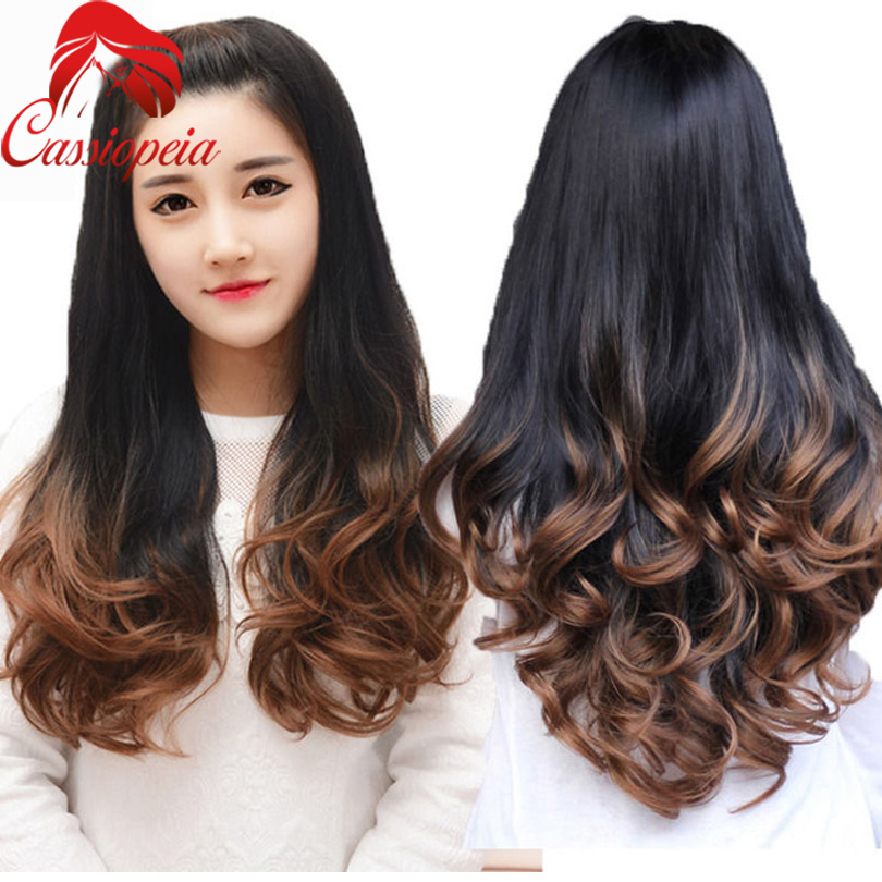 Blonde 1b 30 Ombre Human Hair Half Wig Body Wave Glueless