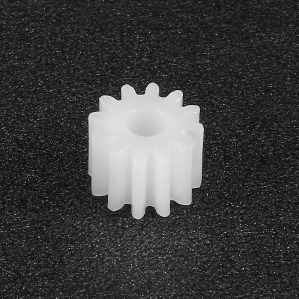 uxcell 10 Pcs White Plastic 8 Teeth 2mm Shaft Dia DIY RC Toy Model Gears