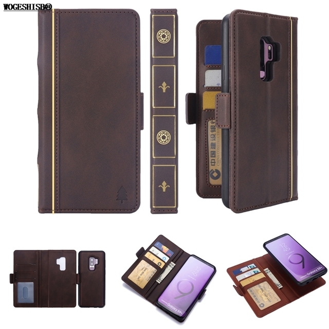 huge discount 4900a bbcce US $4.89 30% OFF|2 in 1 Cosplay Vintage Leather Case Harry Potter Magic  Book Wallet Flip Detachable Cover for Samsung Galaxy S8 S9 Plus Cases-in ...