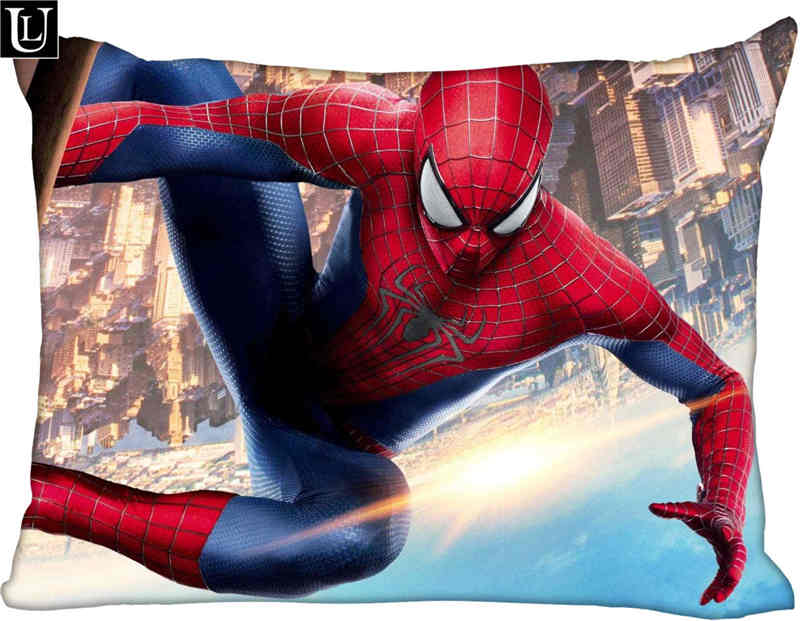 Custom The Amazing Spider-Man Rectangle Pillowcase Zipper Classic Pillow Case DIY Pillow Case With Your Picture 20x30inch