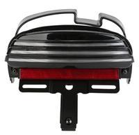 White Tri Bar Fender LED Turn SIgnal + Tail Brake Light For 08 Up Harley Dyna Fat Bob