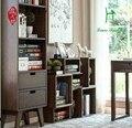 Oficina de madeira tratada Pure real estante de madeira armário de Carvalho combinação livre contratada e contemporâneo prateleira prateleira DIY