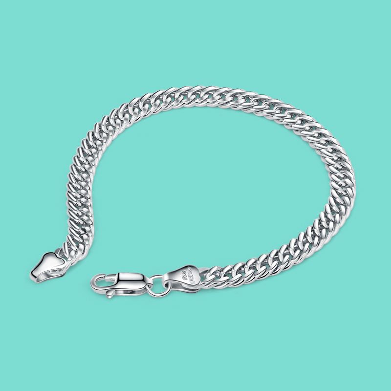 good quality 100 925 sterling silver bracelet men s fashion jewelry whips bracelet solid silver chain