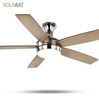 SOLFART потолочный вентилятор современные деревянные потолочные вентилятор с свет для спальни столовая современная люстра ce UL SLF2075