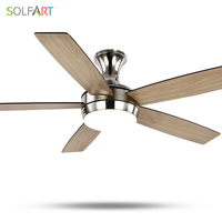 SOLFART ceiling fan modern wooden ceiling fan with light for bedroom dinning room modern chandelier ce UL SLF2075