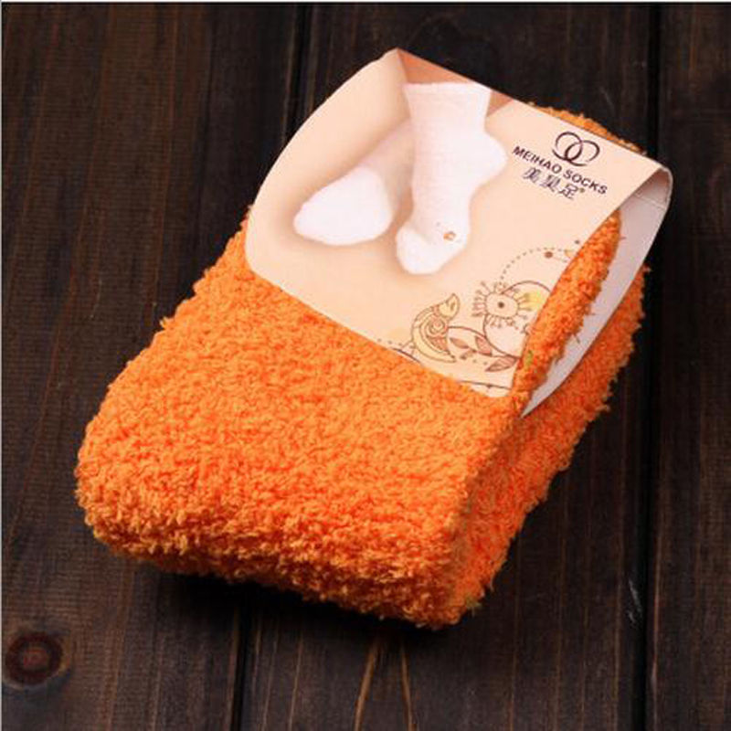 1Pair Girls Bed Socks Fluffy Warm Winter Kids Gift Soft Floor Home Accessories D