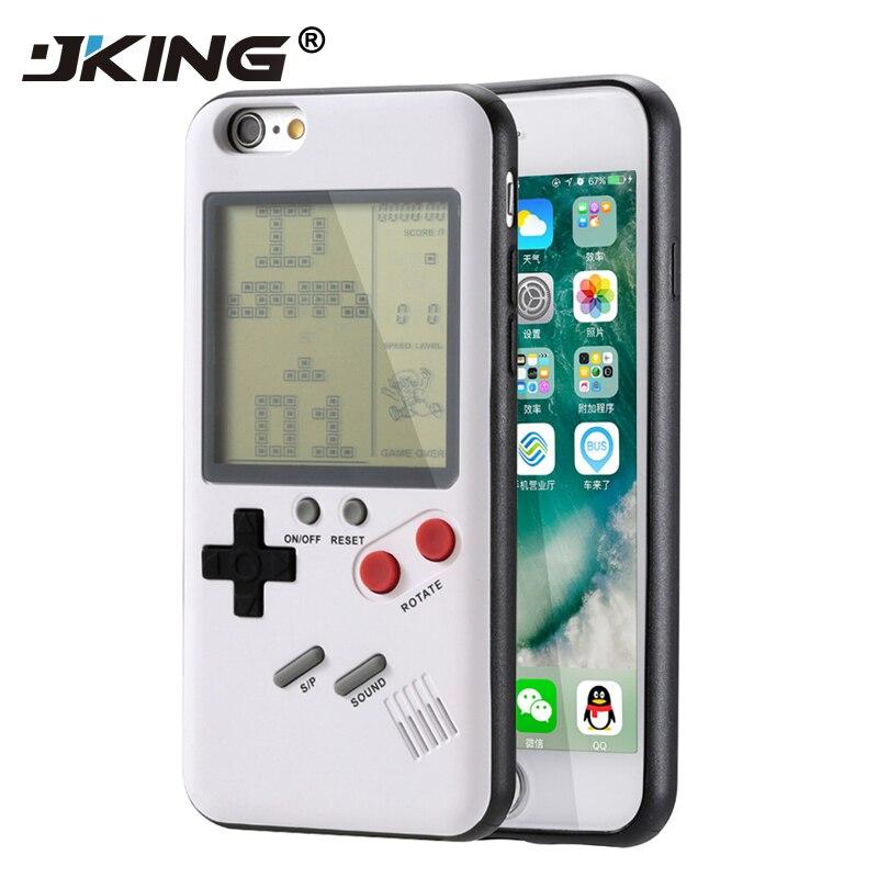 JKING For Apple iPhone 6 6s 7 8 6 Plus 6s Plus 7 Plus 8 Plus iPhone X Retro Nintendo Tetris Gameboy Phone Case