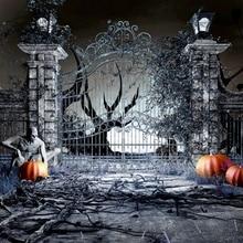 цены на Laeacco Halloween Arch Door Ghost Pumpkin Light Party Photography Backgrounds Customized Photographic Backdrops For Photo Studio в интернет-магазинах