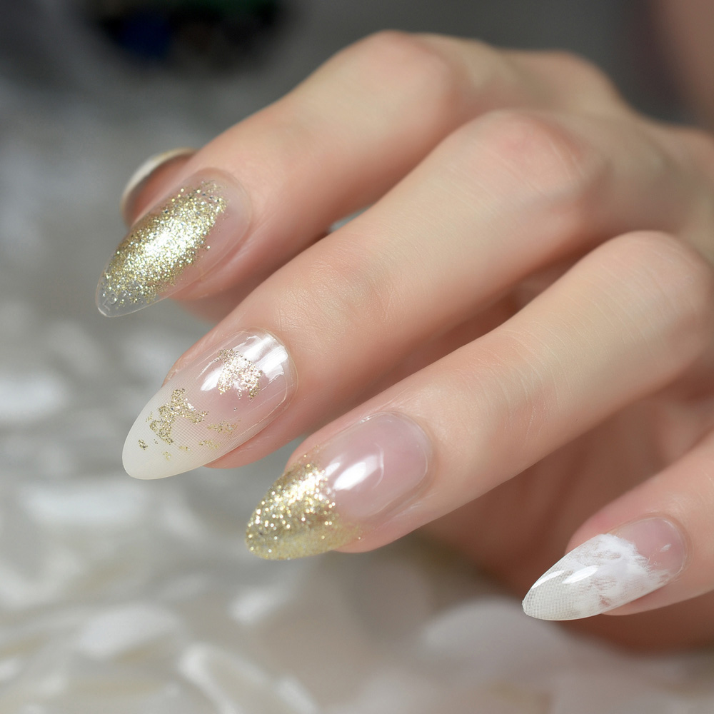 to wear - Glitter clear tip nails video
