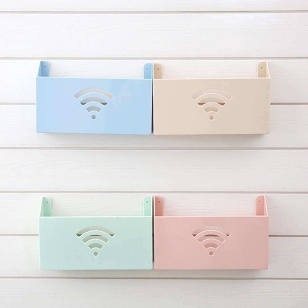 US $4.39 55% OFF|Storage Box Kitchen Bedroom living room Small Size Wall  Mount WiFi Router Storage Boxes Shelf plastic Box Drop shipping July17-in  ...