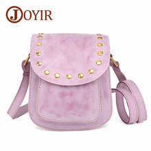 JOYIR Genuine Leather Crossbody Bags For Women Messenger 2018 Fashion Rivet Handbags Small Shoulder
