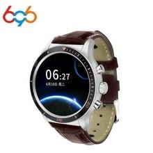 696 Y3S Telefonema Smartwatch Moda Relógio Inteligente com o Cartão Sim GPS Traxker de Fitness Monitor de Freqüência Cardíaca Relógio Pedômetro