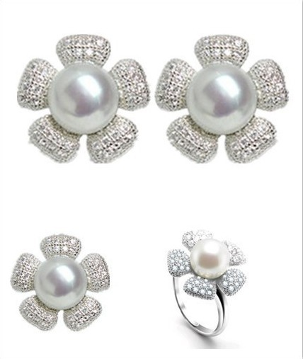 Jewelry-Set Graceful Natural-Freshwater-Pearl Wedding-Fashion Gorgeous Charm Real 3-Color