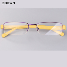 ZOBWN classic half frame Women eyeglasses for Reading Glasses uv400 Anti-fatigue Computers simple Brand New Style gafas
