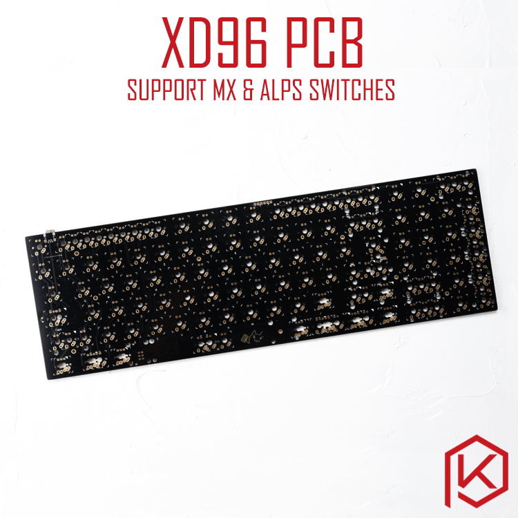 xiudi xd96 pcb 90 Custom Mechanical Keyboard Supports TKG TOOLS Underglow RGB PCB programmed kle Kimera