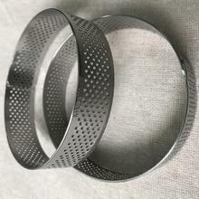 Нержавеющая сталь материал большой размер перфорированные кольца отверстия мусс круг выпечки инструменты