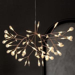 Image 5 - IKVVT złoty wisiorek led Lights metalowa akrylowa gałąź drzewa kształt światło wewnętrzne oprawy restauracja lampa żyrandol do salonu
