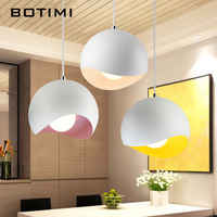 BOTIMI Pendant Lights For Dining With Colorful Lampshades Hanging Light Fixture Indoor Bar Hang Lamp E27 Metal Single Lighting