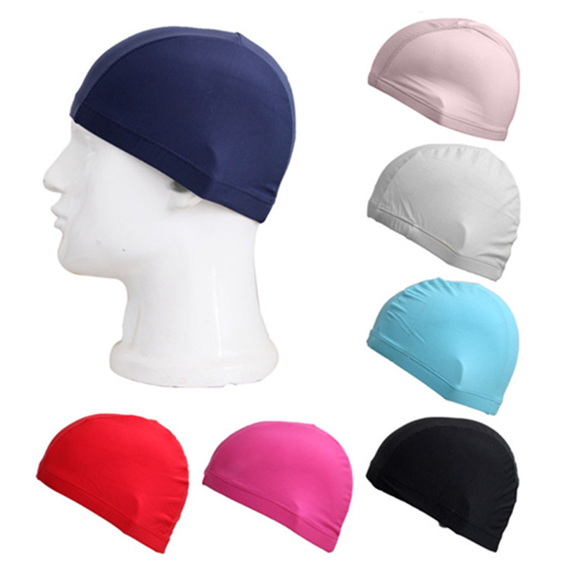 Adult Elastic Swimming Caps Waterproof Protect Ears Long Hair Soft Bathing Hat Summer Beach Swim Cap