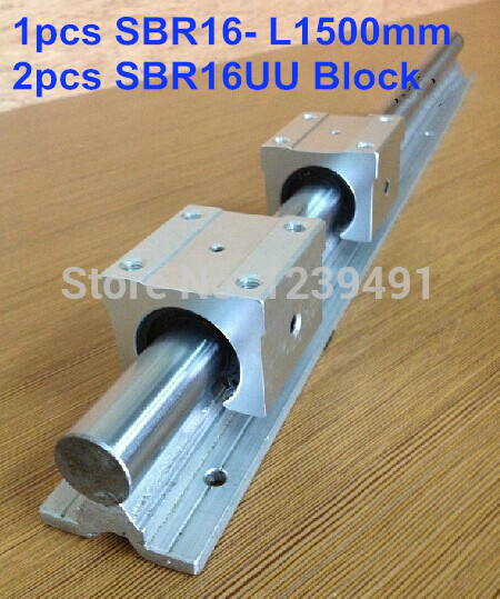 1pcs SBR16 L1500mm linear guide + 2pcs SBR16UU block cnc router 2pcs sbr16 l1000mm linear guide 4pcs sbr16uu block cnc router