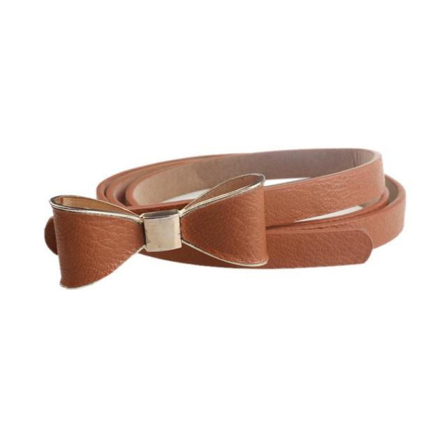 4bc5ce0d3150c 2017 new arrival Women Belt pu Leather Candy luxury Wild Waistband bow knot  female Bow Belt
