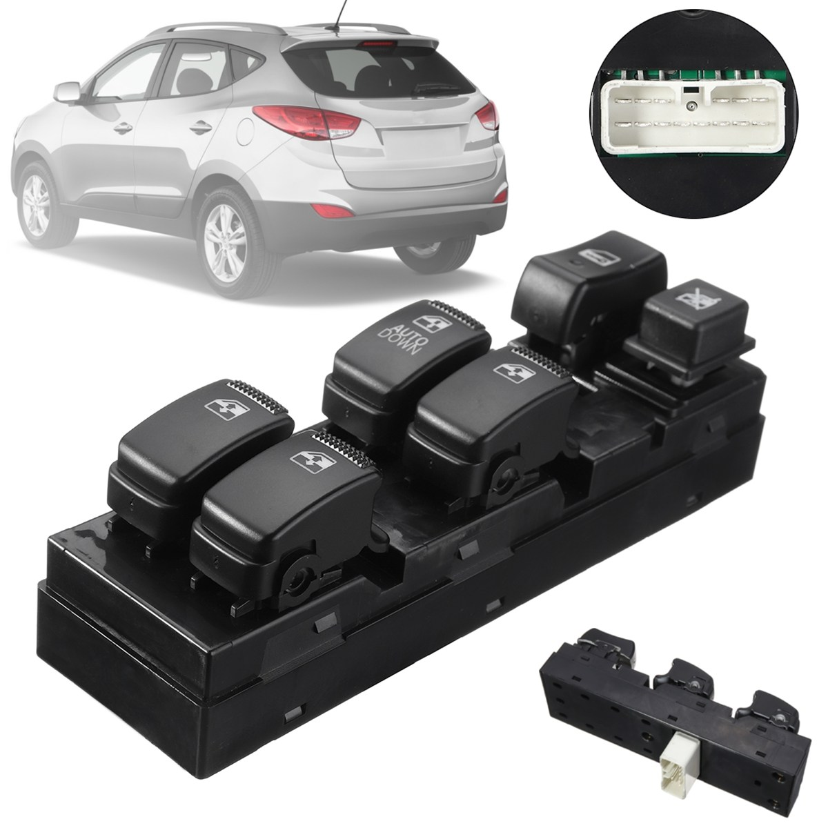 #93570-2E000 #935702E000 #WSHY009 ABS Front Left Driver Side Electric Power Window Switch For Hyundai Tucson 2009 2010 2008 2007 for hyundai elantra front left driver side master power window switch 2001 02 03 04 05 2006 93570 2d000