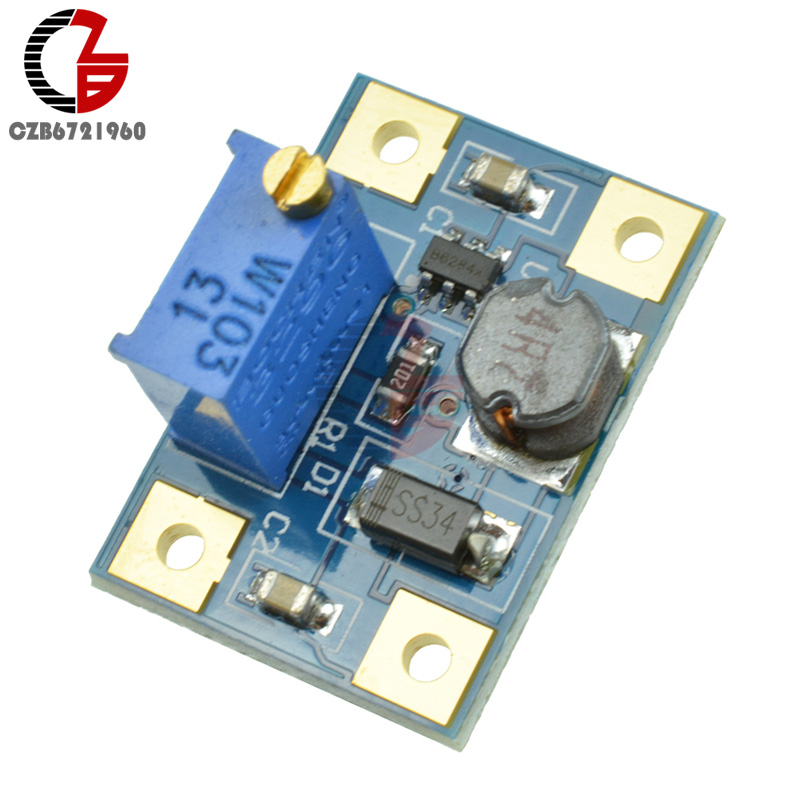 5PCS DC-DC 2-24V to 2-28V 2A SX1308 Adjustable Step-up Power Module Step Up Boost Converter Board