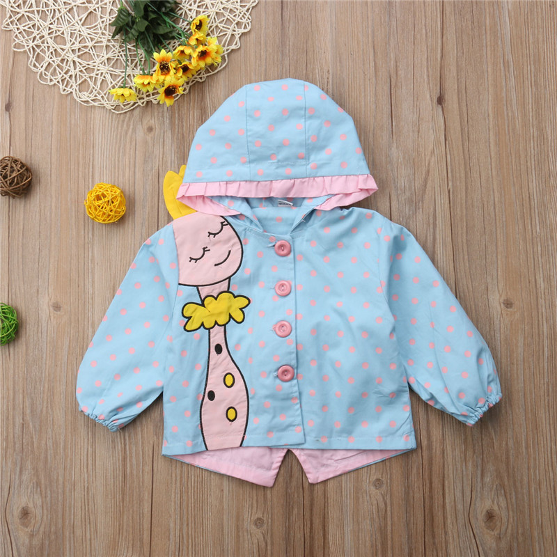 679a981dd15b Toddler Baby Girl Cartoon Giraffe Printed Jacket Coat Fashion ...
