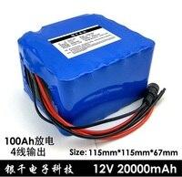 12 В 20ah разряда повышенной мощности батареи, 100ah разряда, может использоваться как мощный Электрический оборудования, с адаптерами.