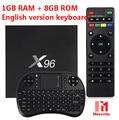 X96 TV Box Amlogic S905X Quad Core 2.4GHz WiFi HDMI 2.0 with USB 2.0 AV LAN TF Card Slot Smart Media Player Set-top Box
