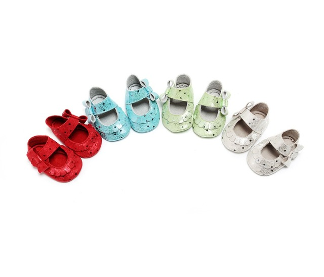 New Style Genuine Leather Baby First Walkers Shoes Moccasins Soft Moccs Infant Toddler Girl Boy Shoes Polka Dot Crib Bebe Shoes