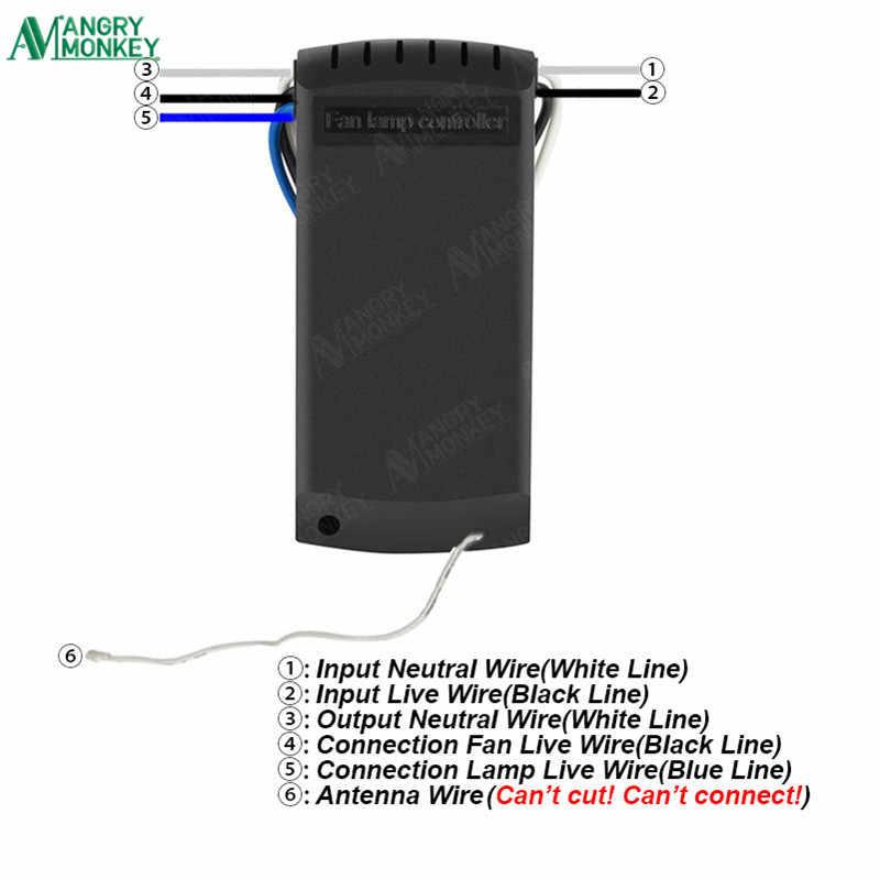 Универсальный Беспроводной потолочный вентилятор пульт ДУ для лампы Функция синхронизации контроллер для потолка светодиодный энергосберегающий свет AC200-260V