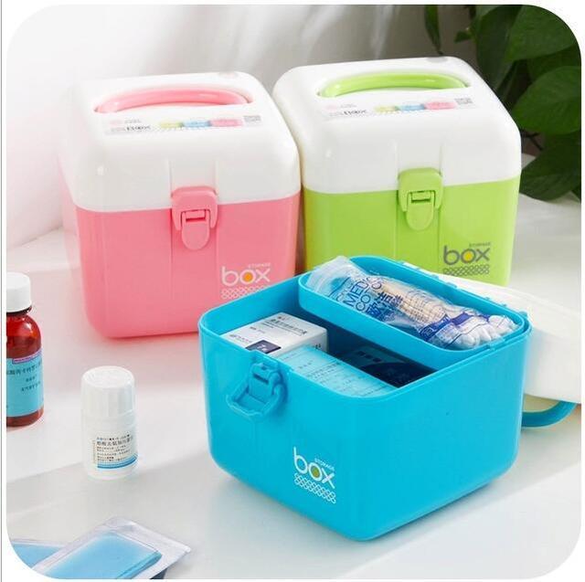 Genial Multi Layer Small Medicine Box Household Medicine Storage Box Baby Medicine  Box Family First