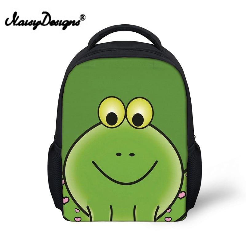 Cute Frog Printing School Bags for Kis Kawaii Schoolbag Backpack Boys Baby Funny Shoulder Bag Children Book Bagpack